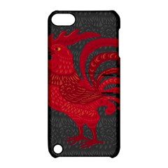 Red fire chicken year Apple iPod Touch 5 Hardshell Case with Stand