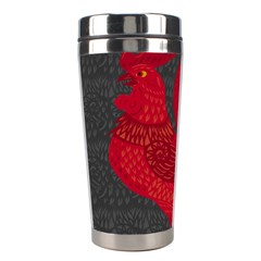 Red Fire Chicken Year Stainless Steel Travel Tumblers by Valentinaart