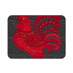 Red Fire Chicken Year Double Sided Flano Blanket (mini)  by Valentinaart