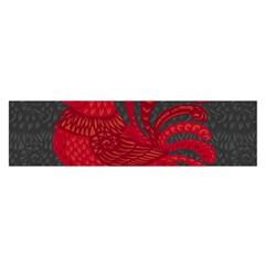 Red Fire Chicken Year Satin Scarf (oblong) by Valentinaart