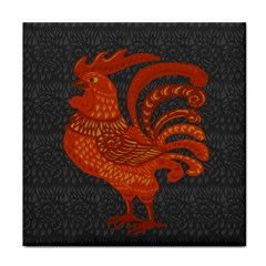 Chicken Year Tile Coasters by Valentinaart