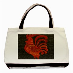 Chicken Year Basic Tote Bag (two Sides) by Valentinaart