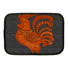 Chicken Year Netbook Case (medium)  by Valentinaart