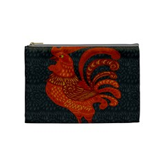 Chicken Year Cosmetic Bag (medium)  by Valentinaart