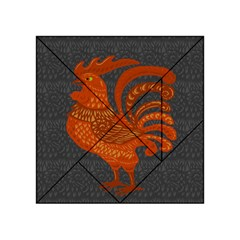 Chicken Year Acrylic Tangram Puzzle (4  X 4 ) by Valentinaart