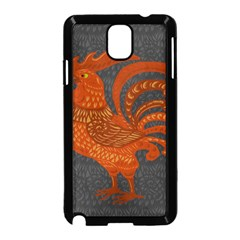 Chicken Year Samsung Galaxy Note 3 Neo Hardshell Case (black) by Valentinaart