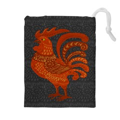 Chicken Year Drawstring Pouches (extra Large) by Valentinaart