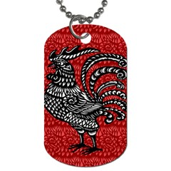 Year Of The Rooster Dog Tag (one Side) by Valentinaart