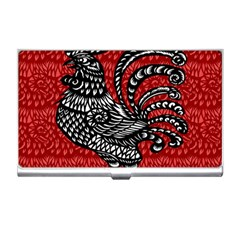 Year Of The Rooster Business Card Holders by Valentinaart