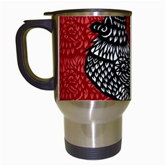 Year Of The Rooster Travel Mugs (white) by Valentinaart