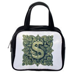 Money Symbol Ornament Classic Handbags (one Side) by dflcprints