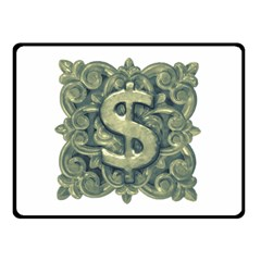 Money Symbol Ornament Double Sided Fleece Blanket (small)  by dflcprints