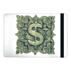Money Symbol Ornament Samsung Galaxy Tab Pro 10 1  Flip Case by dflcprints