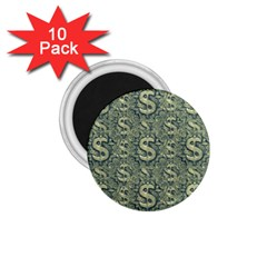 Money Symbol Ornament 1 75  Magnets (10 Pack)