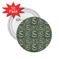 Money Symbol Ornament 2 25  Buttons (10 Pack)