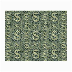 Money Symbol Ornament Small Glasses Cloth by dflcprintsclothing