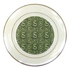 Money Symbol Ornament Porcelain Plates