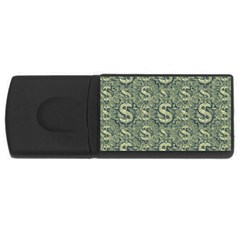 Money Symbol Ornament Usb Flash Drive Rectangular (4 Gb)