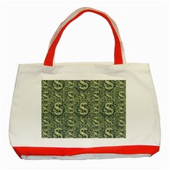 Money Symbol Ornament Classic Tote Bag (red)