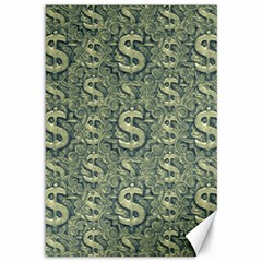 Money Symbol Ornament Canvas 12  X 18
