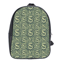 Money Symbol Ornament School Bags(large)