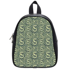 Money Symbol Ornament School Bags (small)