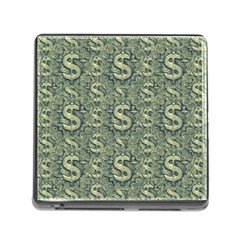 Money Symbol Ornament Memory Card Reader (square)