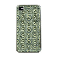 Money Symbol Ornament Apple Iphone 4 Case (clear)