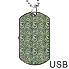 Money Symbol Ornament Dog Tag Usb Flash (two Sides)