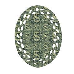 Money Symbol Ornament Ornament (oval Filigree)