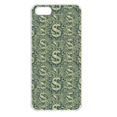 Money Symbol Ornament Apple Iphone 5 Seamless Case (white)