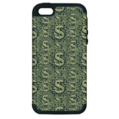 Money Symbol Ornament Apple Iphone 5 Hardshell Case (pc+silicone)