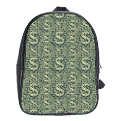 Money Symbol Ornament School Bags (xl)