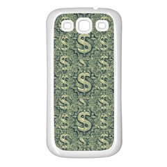 Money Symbol Ornament Samsung Galaxy S3 Back Case (white) by dflcprintsclothing