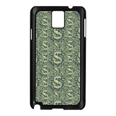Money Symbol Ornament Samsung Galaxy Note 3 N9005 Case (black)