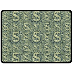 Money Symbol Ornament Double Sided Fleece Blanket (large)  by dflcprintsclothing
