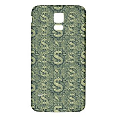 Money Symbol Ornament Samsung Galaxy S5 Back Case (white)