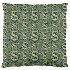 Money Symbol Ornament Large Flano Cushion Case (two Sides)