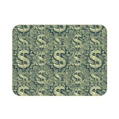 Money Symbol Ornament Double Sided Flano Blanket (mini)