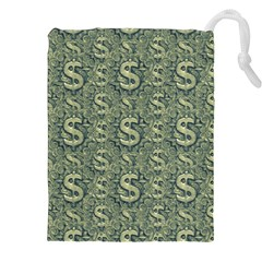 Money Symbol Ornament Drawstring Pouches (xxl)