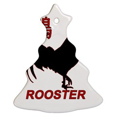 Year Of The Rooster   Chinese New Year Ornament (christmas Tree)  by Valentinaart