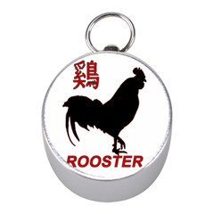 Year Of The Rooster   Chinese New Year Mini Silver Compasses by Valentinaart