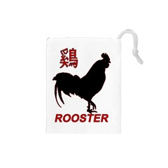 Year Of The Rooster   Chinese New Year Drawstring Pouches (small)  by Valentinaart