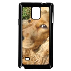 Red Cocker Spaniel Red Samsung Galaxy Note 4 Case (Black) by TailWags