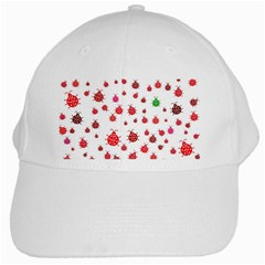 Beetle Animals Red Green Fly White Cap by Amaryn4rt
