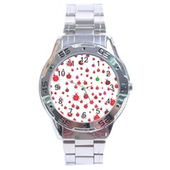 Beetle Animals Red Green Fly Stainless Steel Analogue Watch by Amaryn4rt