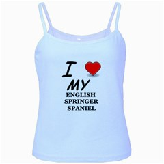 Eng Spr Sp Love Baby Blue Spaghetti Tank by TailWags