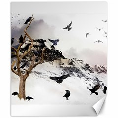 Birds Crows Black Ravens Wing Canvas 8  X 10  by Amaryn4rt