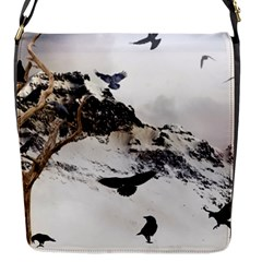 Birds Crows Black Ravens Wing Flap Messenger Bag (s) by Amaryn4rt