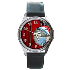 Antique Car Auto Roadster Old Round Metal Watch by Amaryn4rt
